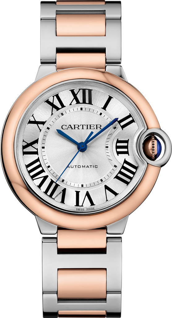 Ballon Bleu de Cartier watch36 mm, 18K pink gold and steel