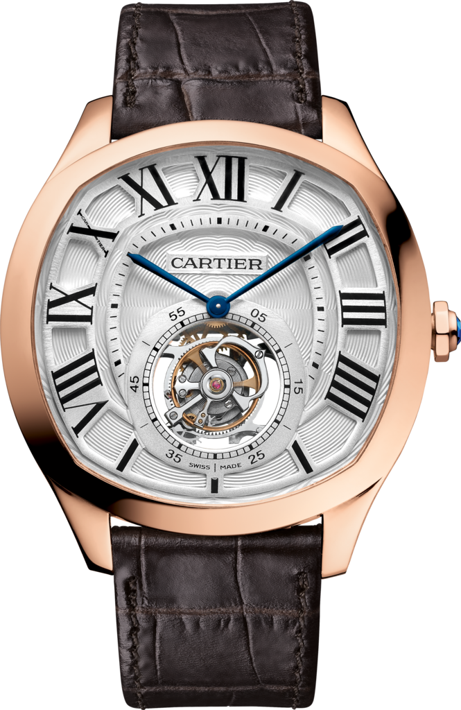 Drive de Cartier Flying Tourbillon watch40 mm, manual, 18K pink gold