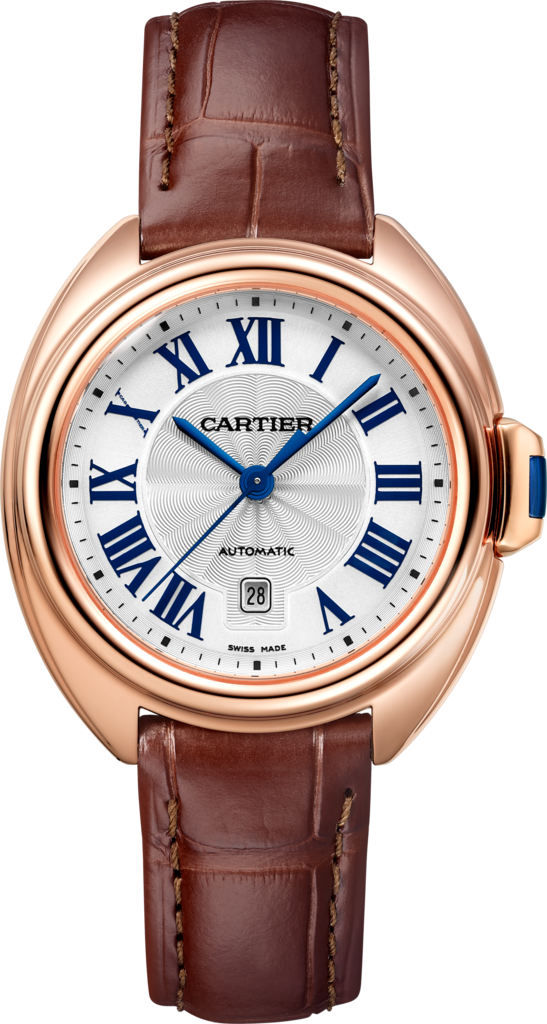 Clé de Cartier watch31 mm, 18K pink gold, leather