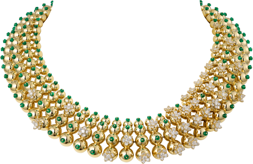 Cactus de Cartier NecklaceYellow gold, emeralds, diamonds