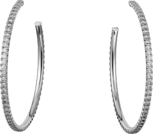 Etincelle de Cartier earrings, large model White gold, diamonds