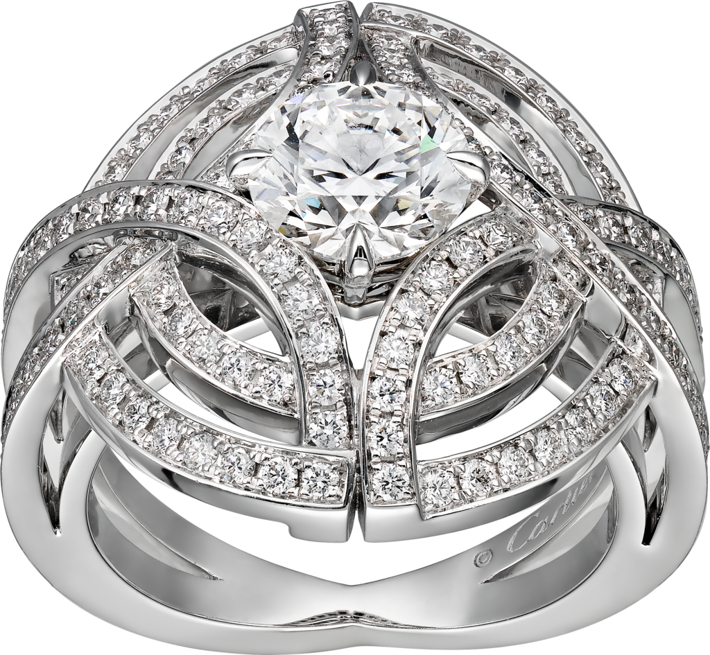 Galanterie de Cartier ringWhite gold, diamonds