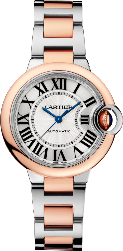 Ballon Bleu de Cartier watch33 mm, 18K pink gold, steel