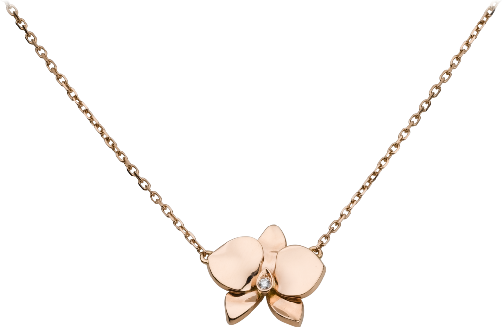 Caresse d'Orchidées par Cartier necklacePink gold, diamond