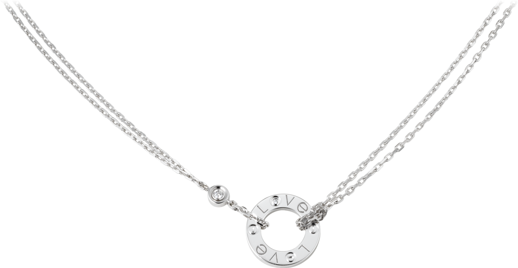 Love necklace, 2 diamondsWhite gold, diamonds