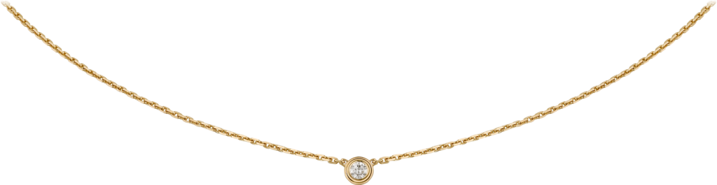 Diamants Légers necklace XSYellow gold, diamond