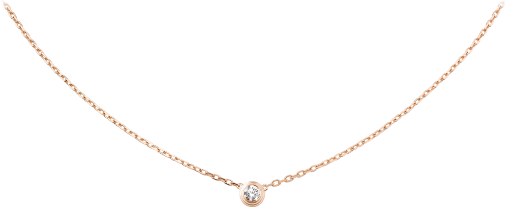 Diamants Légers necklace, LMPink gold, diamond