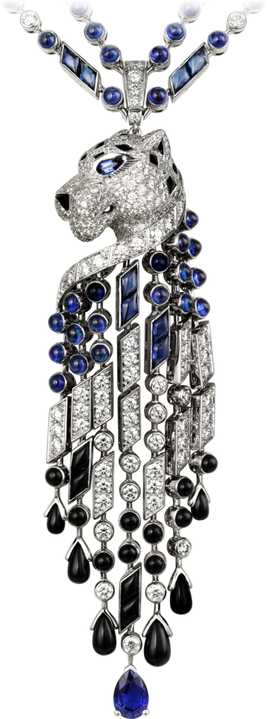 Panthère de Cartier necklacePlatinum, sapphires, onyx, diamonds
