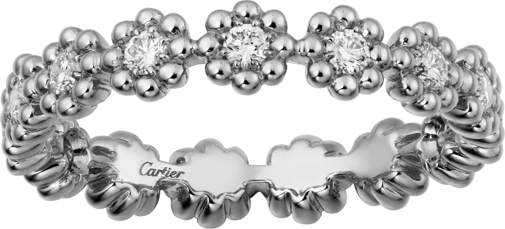 Cactus de Cartier wedding bandWhite gold, diamonds