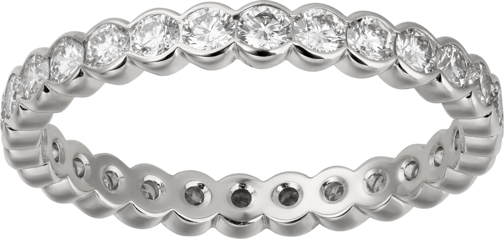 Broderie de Cartier wedding bandWhite gold, diamonds