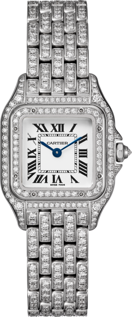 Panthère de Cartier watchSmall model, 18K white gold, diamonds