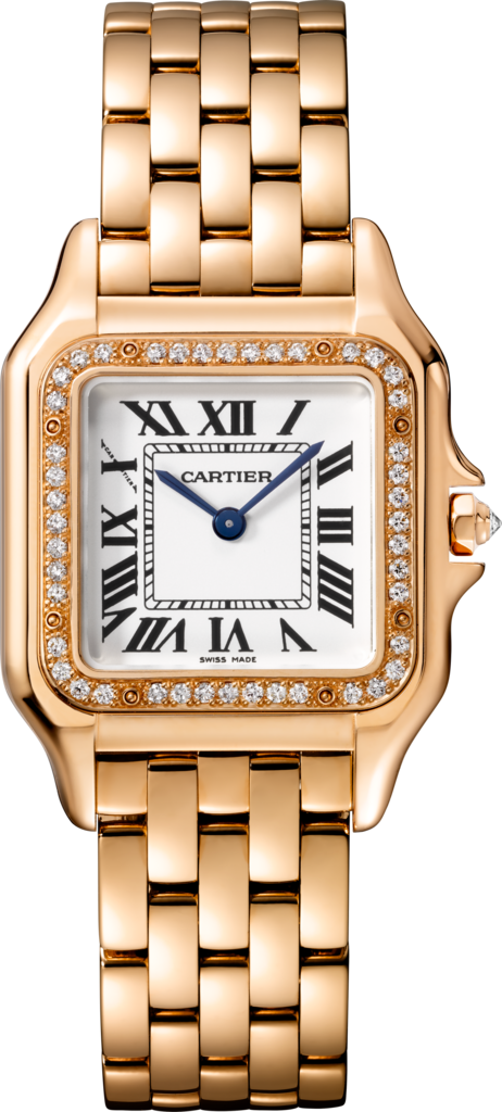 Panthère de Cartier watchMedium model, pink gold, diamonds