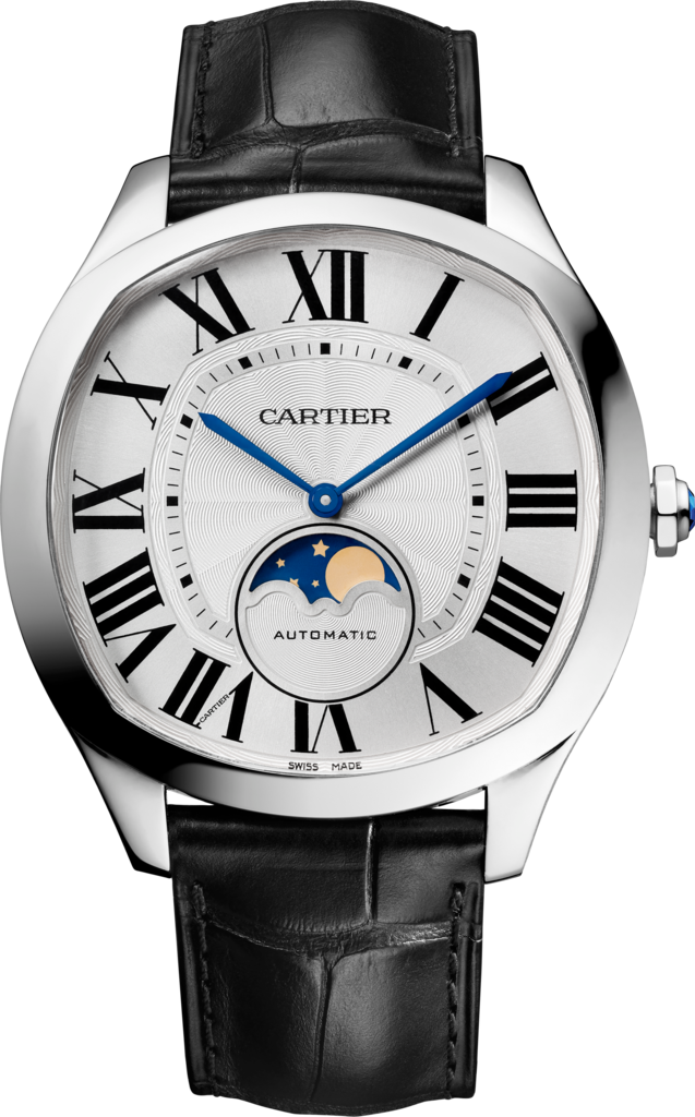 Drive de Cartier Moon Phases watchSteel, leather