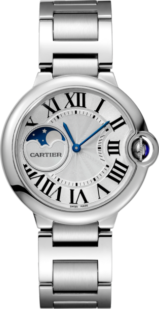 Ballon Bleu de Cartier watch 37mm, automatic movement, steel