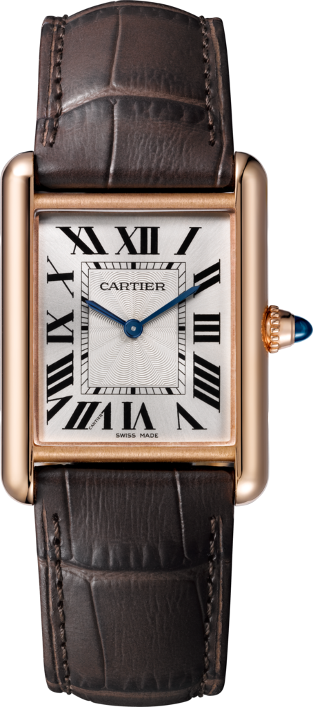 Tank Louis Cartier watchLarge model, rose gold, leather