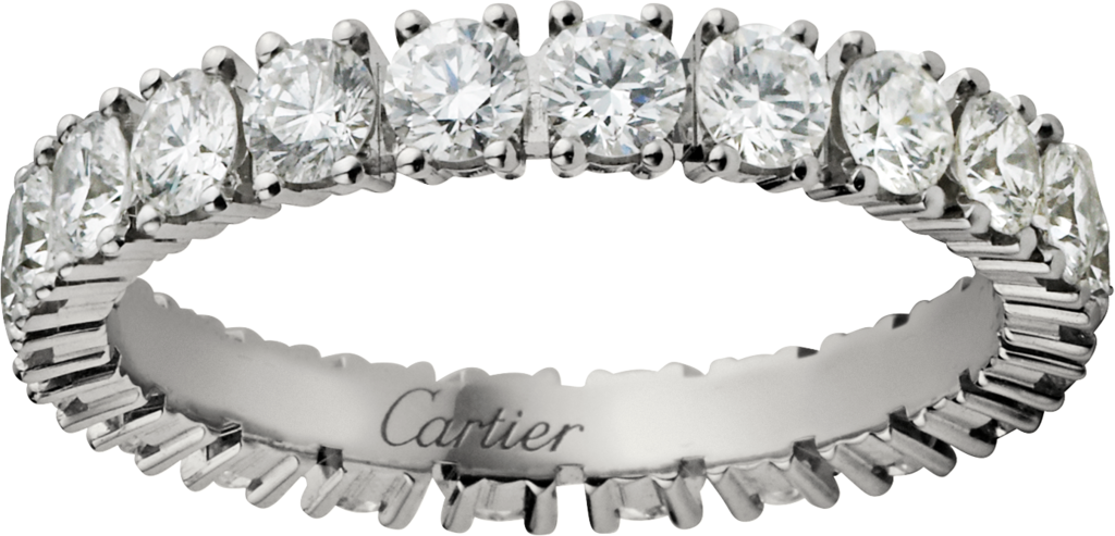 Cartier Destinée wedding ringPlatinum, diamonds