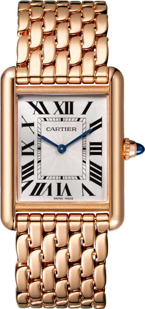 Tank Louis Cartier watchLarge model, pink gold