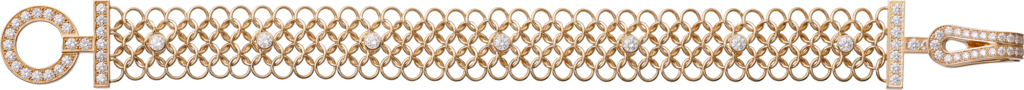Agrafe braceletRose gold, diamonds