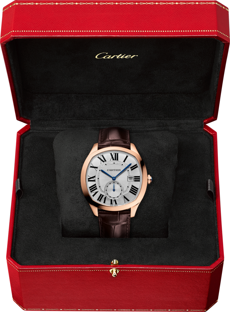 Drive de Cartier watchPink gold, leather