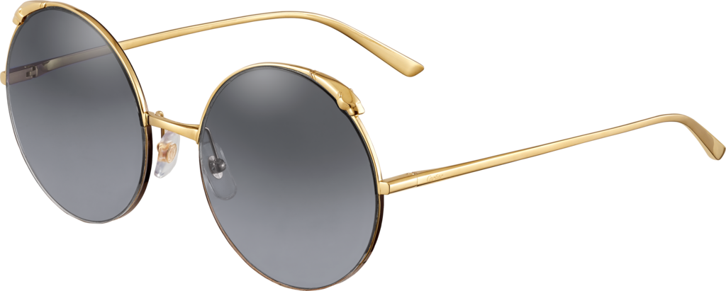 Panthère de Cartier sunglassesChampagne golden-finish metal, graduated grey lenses