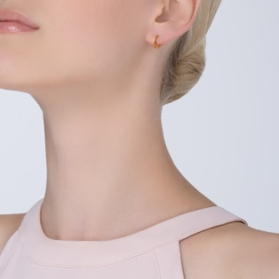 Love single earring Pink gold