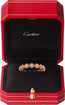Cactus de Cartier wedding band Pink gold, diamonds