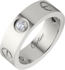 Love ring, 3 diamonds White gold, diamonds