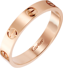 Love wedding band Pink gold