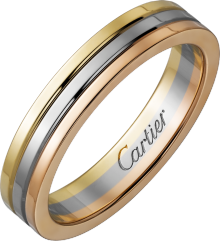 Trinity wedding band White gold, yellow gold, pink gold