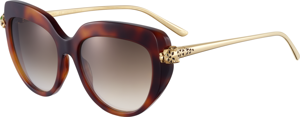 Panthère de Cartier sunglassesTortoiseshell composite and graduated brown lenses