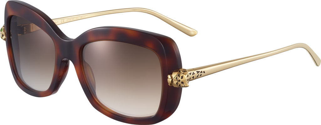 Panthère de Cartier sunglassesTortoiseshell composite and brown lenses