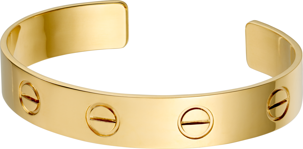 Love braceletYellow gold