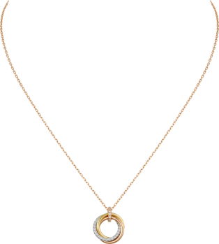 Trinity necklace White gold, yellow gold, pink gold, diamonds