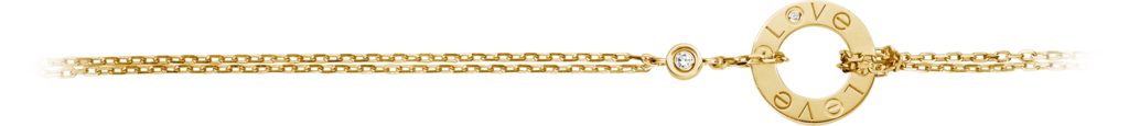 Love braceletYellow gold, diamonds