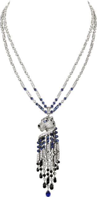 Panthère de Cartier necklace Platinum, sapphires, onyx, diamonds