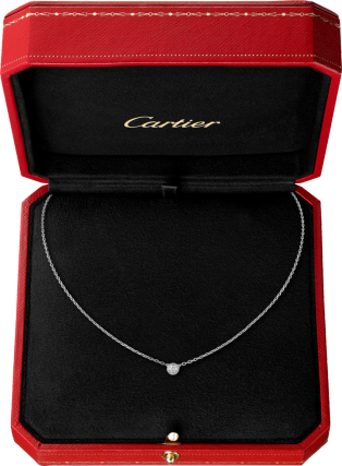 Diamants Légers necklace XS White gold, diamond