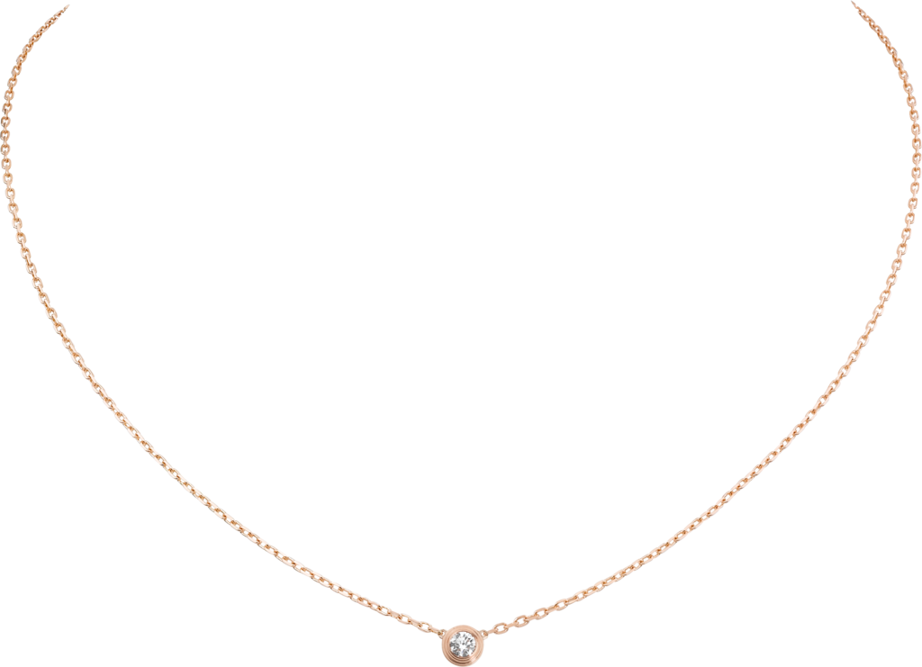 Diamants Légers necklace, SMPink gold, diamond