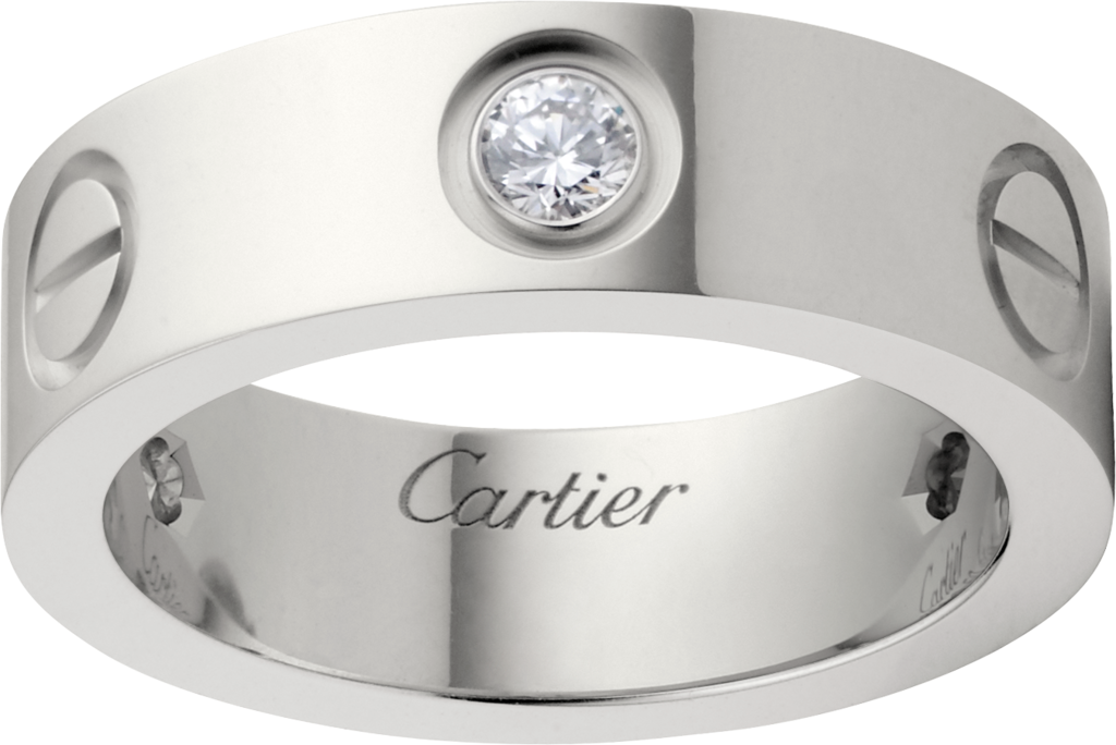 CRB LOVE ring 3 diamonds White gold diamonds Cartier