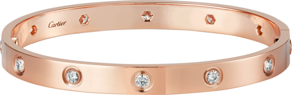 Love bracelet, 10 diamondsRose gold, diamonds