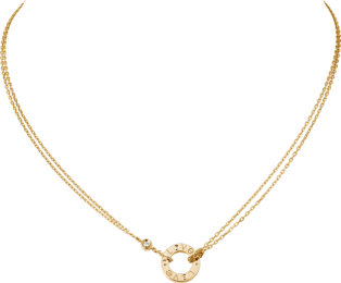 <span class='lovefont'>A </span> necklace, 2 diamonds Yellow gold, diamonds