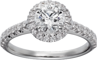 Cartier Destinée solitaire Platinum, diamonds