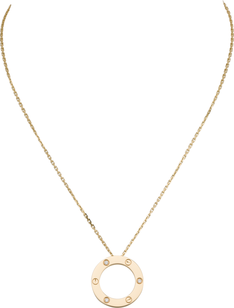 Love necklace, 3 diamondsYellow gold, diamonds