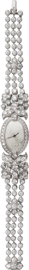 High Jewelry watchSmall model, 18K white gold, diamonds