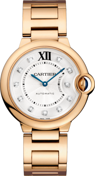 Ballon Bleu de Cartier watch 36 mm, 18K pink gold, diamonds
