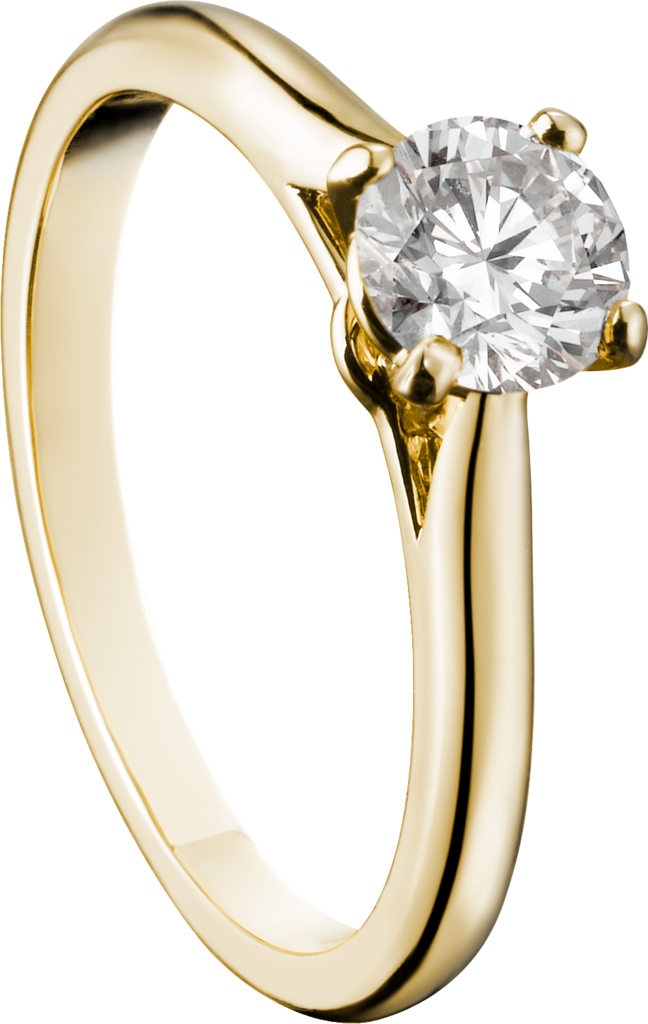 1895 solitaire ringYellow gold, diamond