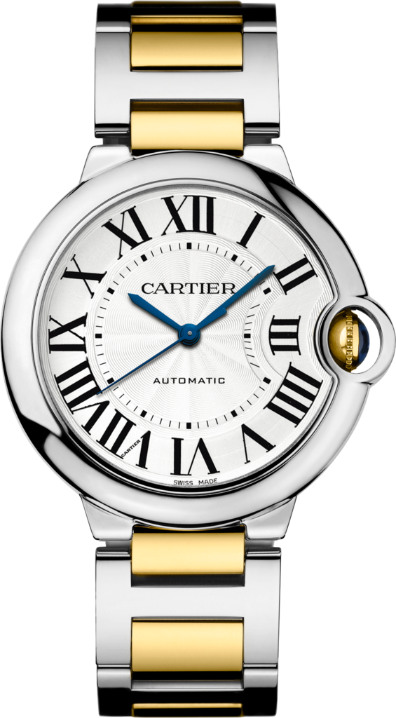 Ballon Bleu de Cartier watch36 mm, 18K gold and steel