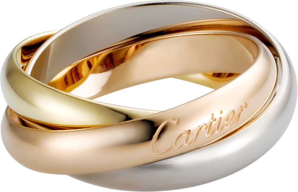 Trinity ring, classicWhite gold, yellow gold, rose gold