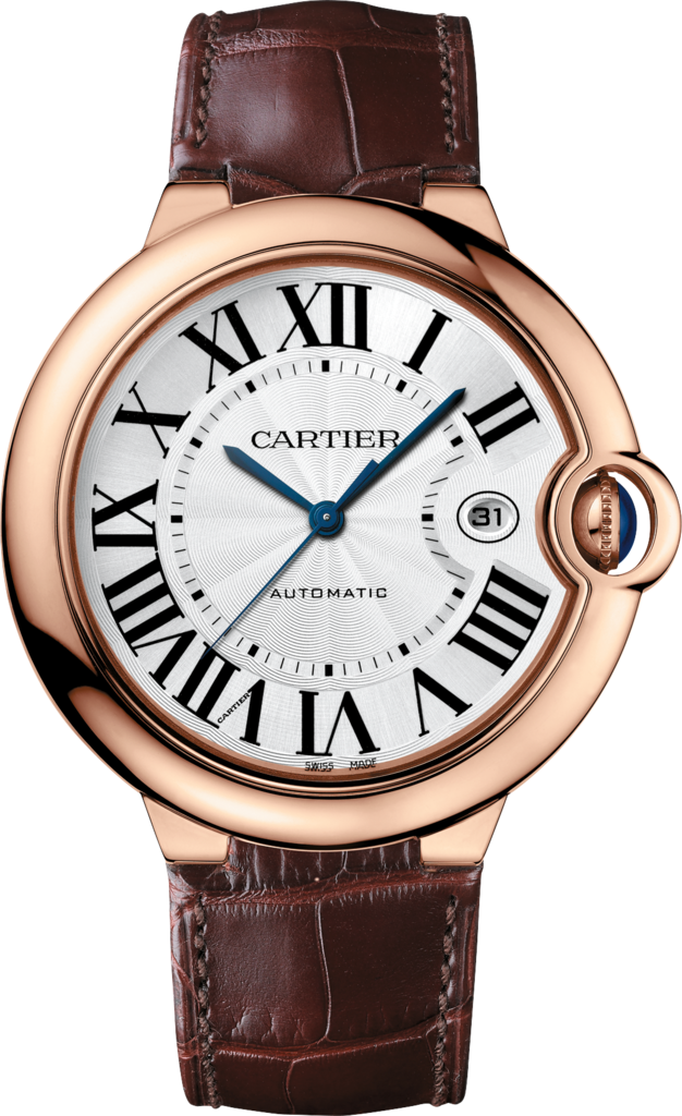 Ballon Bleu de Cartier watch42 mm, pink gold, leather, sapphire