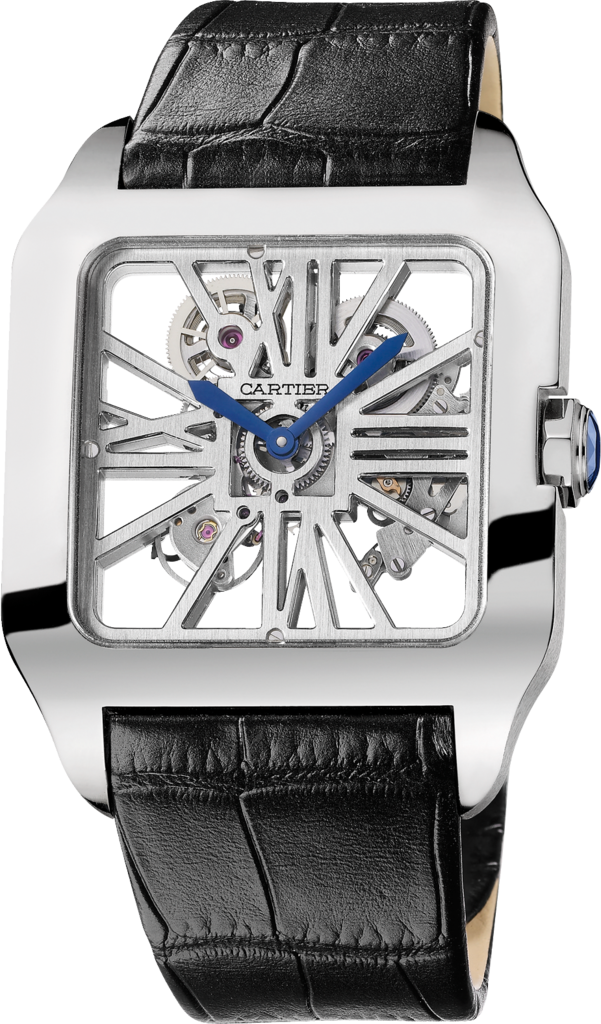 Santos-Dumont Skeleton watchXL, manual, white gold