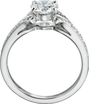 Ballerine Solitaire Platinum, diamonds